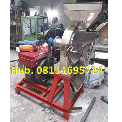 Mesin Penepung Jagung Disk mill DSS 45 Stainless Steel Giling Tepung Jagung + Mesin Diesel Jiang Fa 24 PK